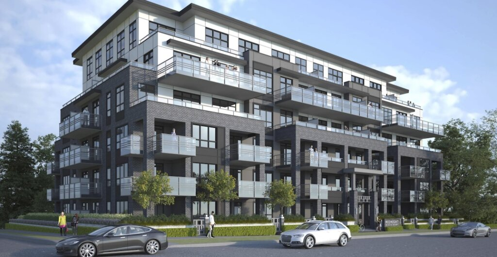 Artistic rendering of 2062-2092 East Broadway, Vancouver. (RH Architects/Bucci Developments)